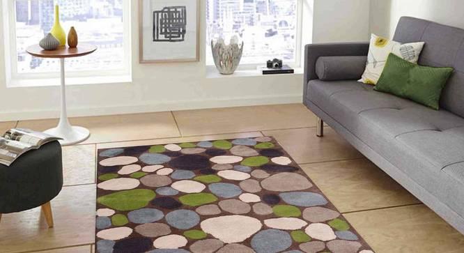 "Stefano Carpet (Green, 183 x 274 cm  (72"" x 108"") Carpet Size) by Urban Ladder - Front View Design 1 - 304893"