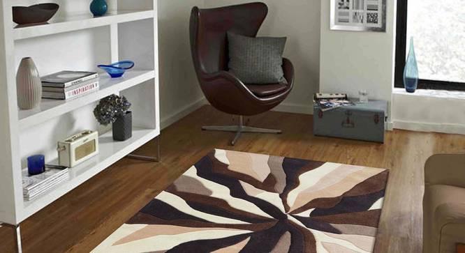 """Carmela Carpet (Beige, 183 x 274 cm  (72"""" x 108"""") Carpet Size) by Urban Ladder - Front View Design 1 - 304923"""