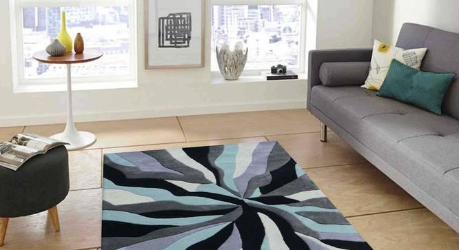 "Carmela Carpet (Grey, 152 x 244 cm  (60"" x 96"") Carpet Size) by Urban Ladder - Front View Design 1 - 304947"
