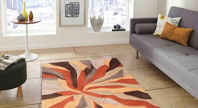 "Carmela Carpet (Orange, 152 x 244 cm  (60"" x 96"") Carpet Size) by Urban Ladder - Front View Design 1 - 304977"