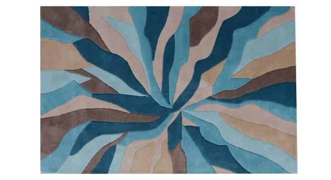 """Carmela Carpet (Blue, 122 x 183 cm  (48"""" x 72"""") Carpet Size) by Urban Ladder - Design 1 Details - 305002"""