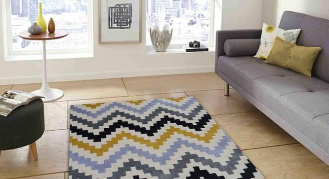 "Gino Carpet (Yellow, 152 x 244 cm  (60"" x 96"") Carpet Size) by Urban Ladder - Front View Design 1 - 305121"
