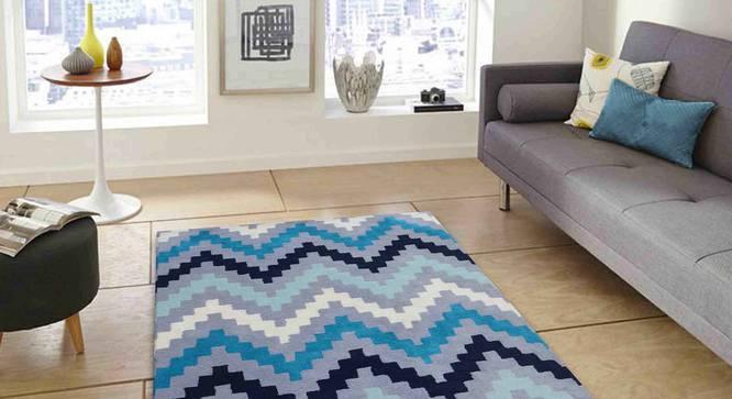 "Gino Carpet (Blue, 91 x 152 cm  (36"" x 60"") Carpet Size) by Urban Ladder - Front View Design 1 - 305139"