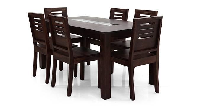 Brighton Large - Capra 6 Seater Dining Table Set (Mahogany Finish) by Urban Ladder - Cross View Design 1 - 3052
