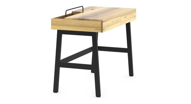 Jeremy - Jean Study Set (Natural Finish, Brown Leatherette) by Urban Ladder - Front View Design 1 - 305236