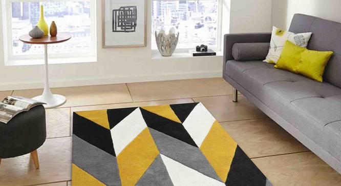 "Monte Carpet (Yellow, 91 x 152 cm  (36"" x 60"") Carpet Size) by Urban Ladder - Front View Design 1 - 305251"