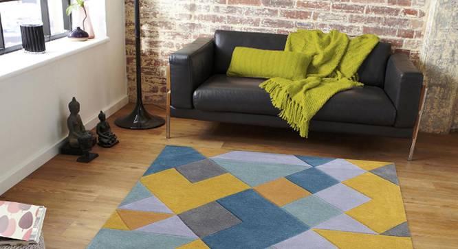 "Nicolo Carpet (Blue, 183 x 274 cm  (72"" x 108"") Carpet Size) by Urban Ladder - Front View Design 1 - 305329"
