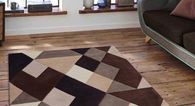 "Nicolo Carpet (Brown, 183 x 274 cm  (72"" x 108"") Carpet Size) by Urban Ladder - Front View Design 1 - 305351"