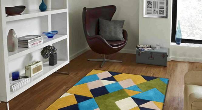 "Nicolo Carpet (Green, 91 x 152 cm  (36"" x 60"") Carpet Size) by Urban Ladder - Front View Design 1 - 305364"