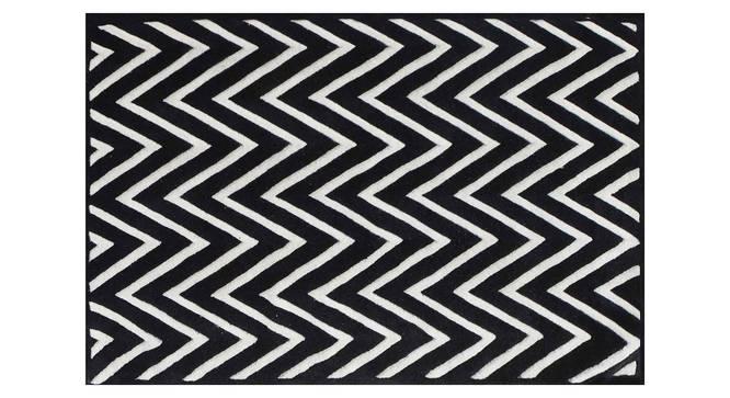 "Renata Carpet (152 x 244 cm  (60"" x 96"") Carpet Size, Black and White) by Urban Ladder - Design 1 Details - 305471"