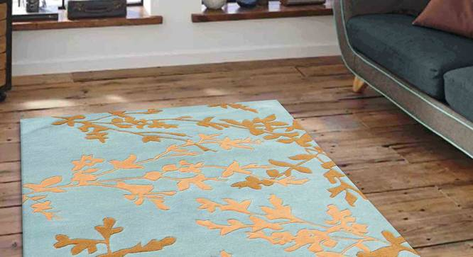 "Yamin Carpet (Blue, 91 x 152 cm  (36"" x 60"") Carpet Size) by Urban Ladder - Front View Design 1 - 305551"