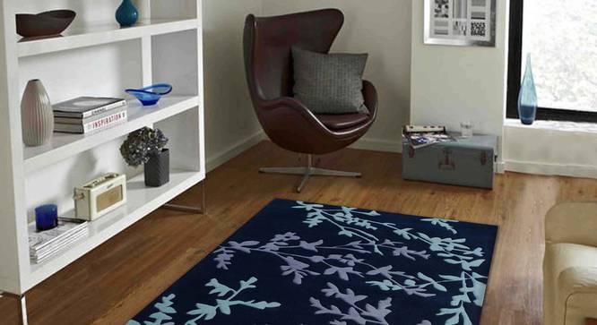 "Yamin Carpet (Grey, 122 x 183 cm  (48"" x 72"") Carpet Size) by Urban Ladder - Front View Design 1 - 305587"