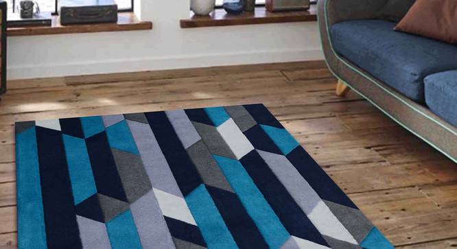 "Draco Carpet (Blue, 122 x 183 cm  (48"" x 72"") Carpet Size) by Urban Ladder - Front View Design 1 - 305683"
