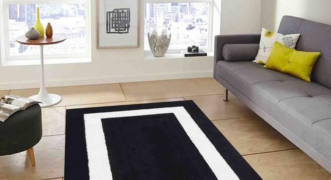 "Bianka Carpet (Black, 183 x 274 cm  (72"" x 108"") Carpet Size) by Urban Ladder - Front View Design 1 - 305785"