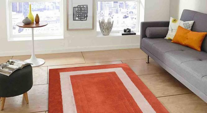 "Bianka Carpet (Orange, 183 x 274 cm  (72"" x 108"") Carpet Size) by Urban Ladder - Front View Design 1 - 305815"