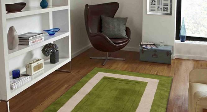"Bianka Carpet (Green, 91 x 152 cm  (36"" x 60"") Carpet Size) by Urban Ladder - Front View Design 1 - 305827"