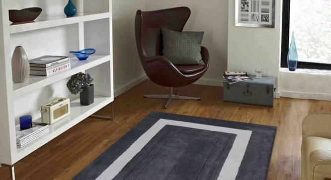 "Bianka Carpet (Grey, 122 x 183 cm  (48"" x 72"") Carpet Size) by Urban Ladder - Front View Design 1 - 305893"