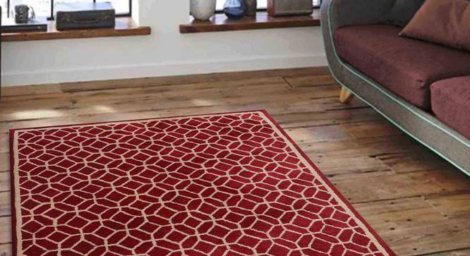 "Elena Carpet (Red, 152 x 244 cm  (60"" x 96"") Carpet Size) by Urban Ladder - Front View Design 1 - 305929"