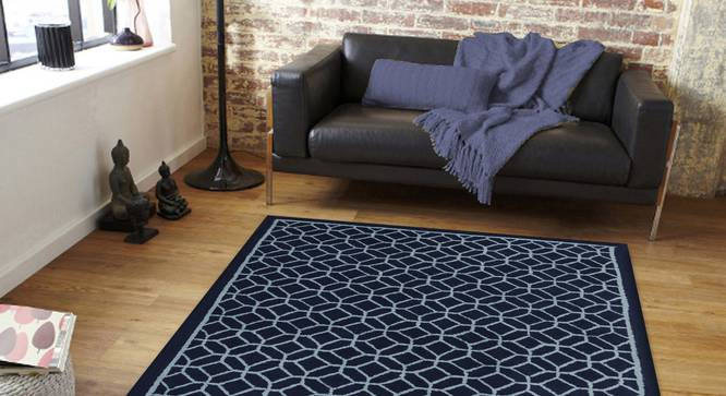 "Elena Carpet (Blue, 91 x 152 cm  (36"" x 60"") Carpet Size) by Urban Ladder - Front View Design 1 - 305977"