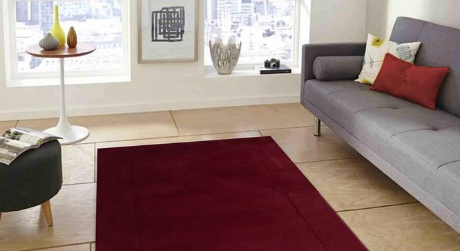 "Leora Carpet (122 x 183 cm  (48"" x 72"") Carpet Size, Maroon) by Urban Ladder - Front View Design 1 - 306019"