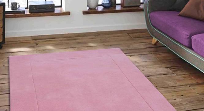 "Leora Carpet (Pink, 91 x 152 cm  (36"" x 60"") Carpet Size) by Urban Ladder - Front View Design 1 - 306073"