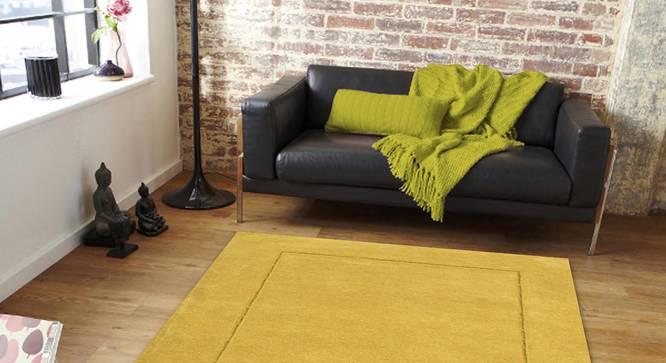 "Leora Carpet (Yellow, 183 x 274 cm  (72"" x 108"") Carpet Size) by Urban Ladder - Front View Design 1 - 306121"