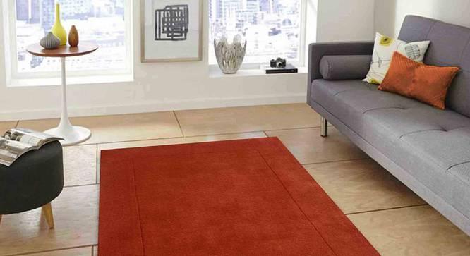 "Leora Carpet (Orange, 91 x 152 cm  (36"" x 60"") Carpet Size) by Urban Ladder - Front View Design 1 - 306133"