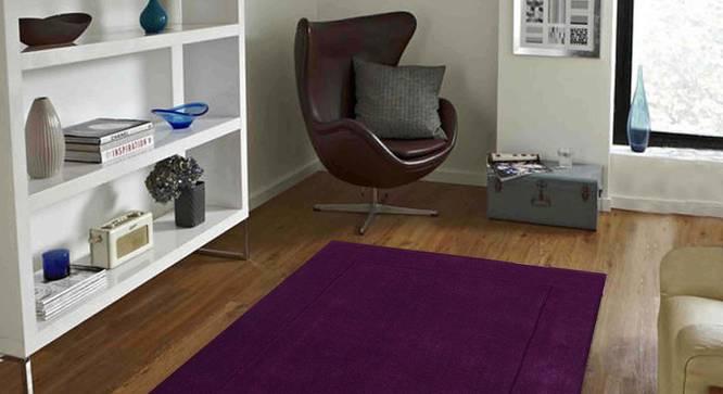 """Leora Carpet (Purple, 122 x 183 cm  (48"""" x 72"""") Carpet Size) by Urban Ladder - Front View Design 1 - 306171"""