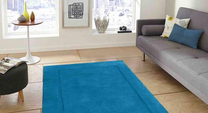 """Leora Carpet (Blue, 183 x 274 cm  (72"""" x 108"""") Carpet Size) by Urban Ladder - Front View Design 1 - 306219"""