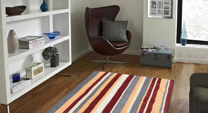 "Selvico Carpet (122 x 183 cm  (48"" x 72"") Carpet Size, Maroon) by Urban Ladder - Front View Design 1 - 306259"