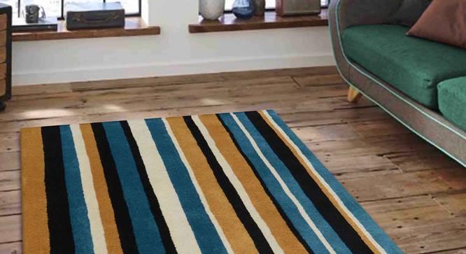 "Selvico Carpet (Blue, 183 x 274 cm  (72"" x 108"") Carpet Size) by Urban Ladder - Front View Design 1 - 306331"