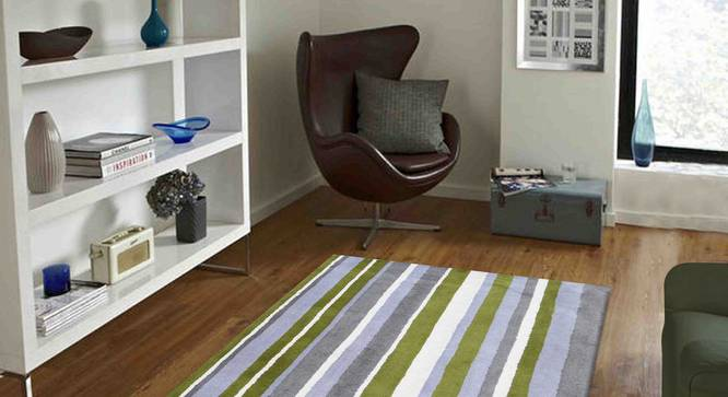"Selvico Carpet (Green, 56 x 140 cm (22"" x 55"") Carpet Size) by Urban Ladder - Front View Design 1 - 306367"