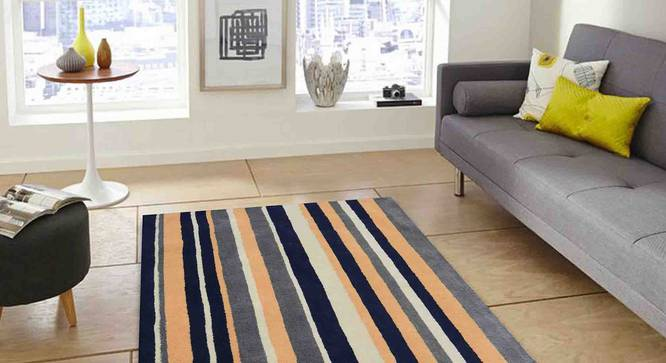 "Selvico Carpet (Gold, 183 x 274 cm  (72"" x 108"") Carpet Size) by Urban Ladder - Front View Design 1 - 306421"