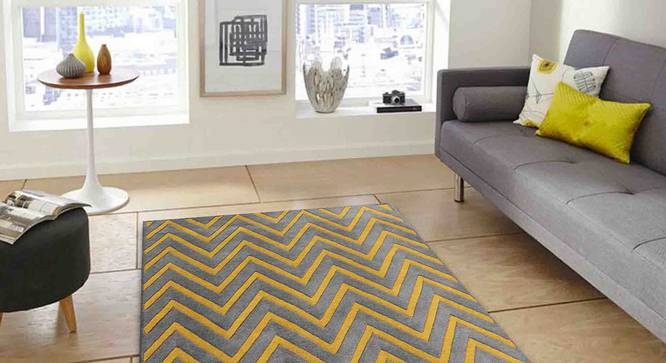 "Zesta Carpet (Grey, 122 x 183 cm  (48"" x 72"") Carpet Size) by Urban Ladder - Front View Design 1 - 306439"