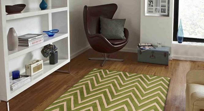 "Zesta Carpet (Green, 91 x 152 cm  (36"" x 60"") Carpet Size) by Urban Ladder - Front View Design 1 - 306463"