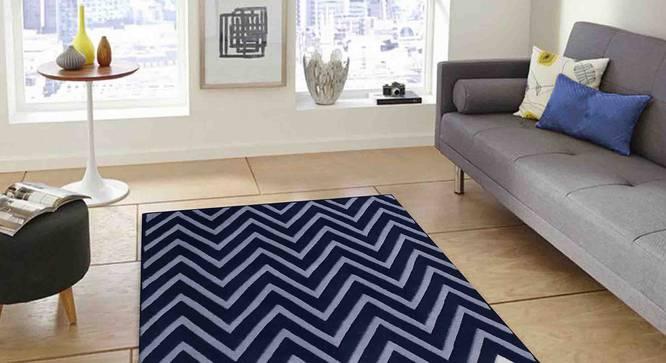 "Zesta Carpet (Blue, 56 x 140 cm (22"" x 55"") Carpet Size) by Urban Ladder - Front View Design 1 - 306471"