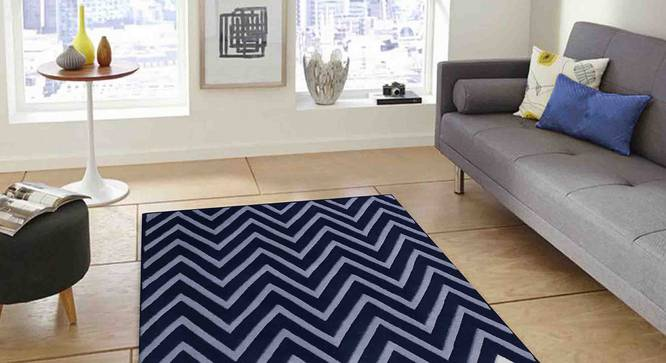 "Zesta Carpet (Blue, 183 x 274 cm  (72"" x 108"") Carpet Size) by Urban Ladder - Front View Design 1 - 306511"