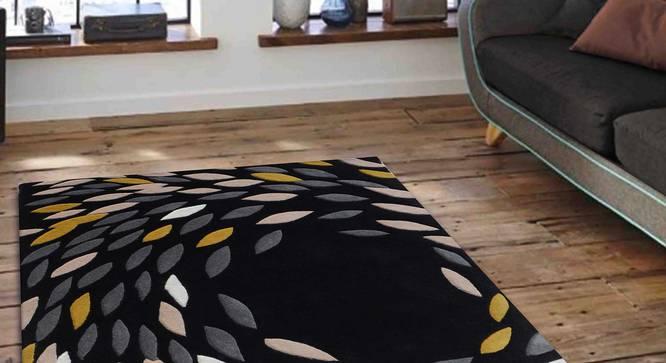 "Antonia Carpet (Black, 91 x 152 cm  (36"" x 60"") Carpet Size) by Urban Ladder - Front View Design 1 - 306523"
