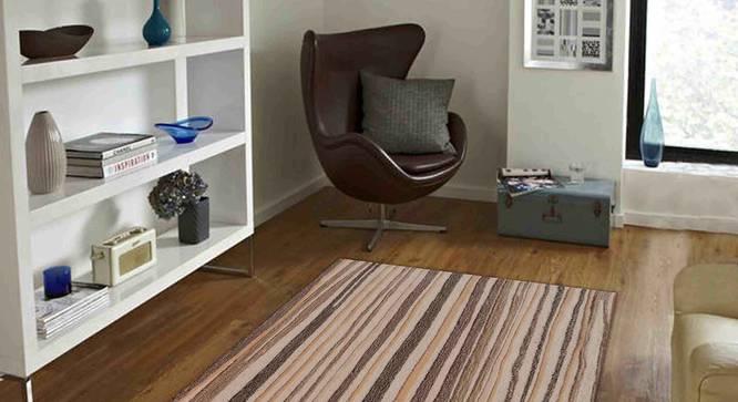 "Agata Carpet (Brown, 122 x 183 cm  (48"" x 72"") Carpet Size) by Urban Ladder - Front View Design 1 - 306667"