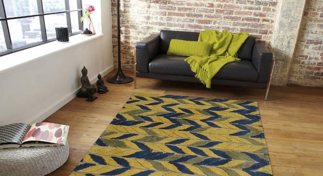 "Aurelia Carpet (Yellow, 183 x 274 cm  (72"" x 108"") Carpet Size) by Urban Ladder - Front View Design 1 - 306776"