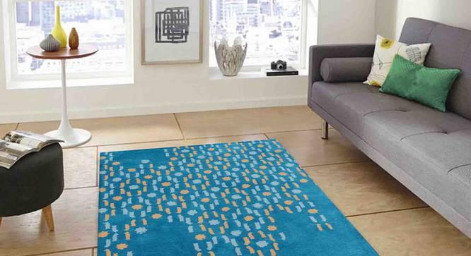 "Siena Carpet (Blue, 56 x 140 cm (22"" x 55"") Carpet Size) by Urban Ladder - Front View Design 1 - 307220"