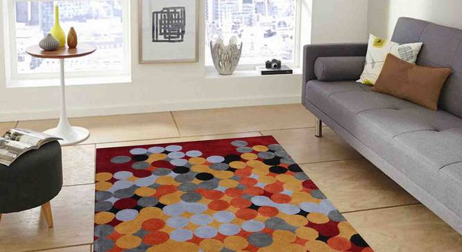 "Dino Carpet (Red, 152 x 244 cm  (60"" x 96"") Carpet Size) by Urban Ladder - Front View Design 1 - 307268"