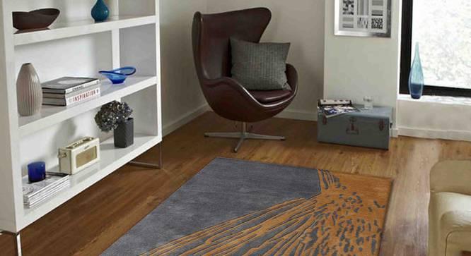 "Armond Carpet (Gold, 91 x 152 cm  (36"" x 60"") Carpet Size) by Urban Ladder - Front View Design 1 - 307334"