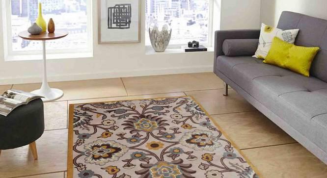 "Tishtar Carpet (Brown, 183 x 274 cm  (72"" x 108"") Carpet Size) by Urban Ladder - Design 1 Front View - 307358"