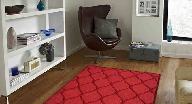 "Emeril Carpet (Red, 152 x 244 cm  (60"" x 96"") Carpet Size) by Urban Ladder - Front View Design 1 - 307376"
