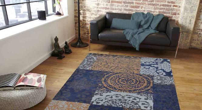 "Uberto Carpet (Blue, 122 x 183 cm  (48"" x 72"") Carpet Size) by Urban Ladder - Front View Design 1 - 307622"