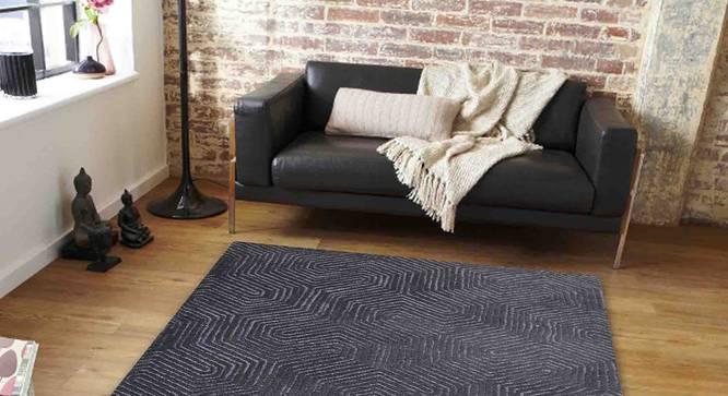 "Armano Carpet (Black, 122 x 183 cm  (48"" x 72"") Carpet Size) by Urban Ladder - Front View Design 1 - 307707"
