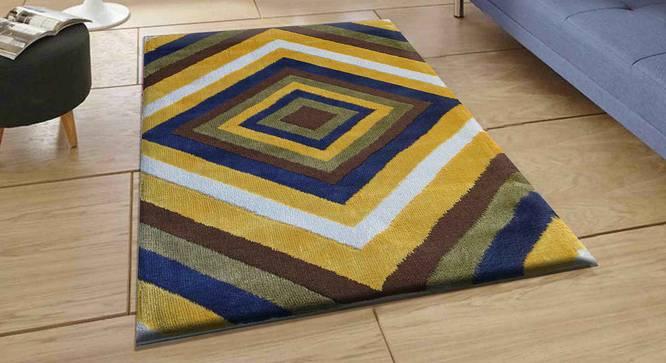 "Bernard Carpet (Yellow, 152 x 213 cm  (60"" x 84"") Carpet Size) by Urban Ladder - Front View Design 1 - 307897"