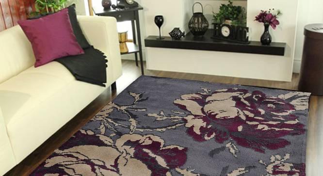 "Rosa Carpet (Grey, 56 x 140 cm (22"" x 55"") Carpet Size) by Urban Ladder - Front View Design 1 - 308048"