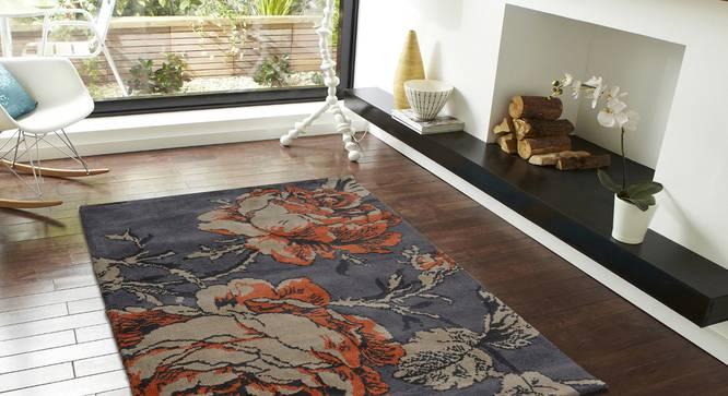 "Rosa Carpet (Rust, 152 x 213 cm  (60"" x 84"") Carpet Size) by Urban Ladder - Front View Design 1 - 308049"